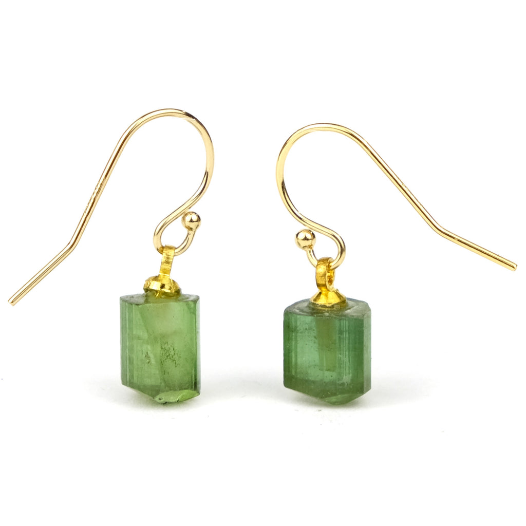 Tourmaline Earrings with Gold Filled French Ear Wires