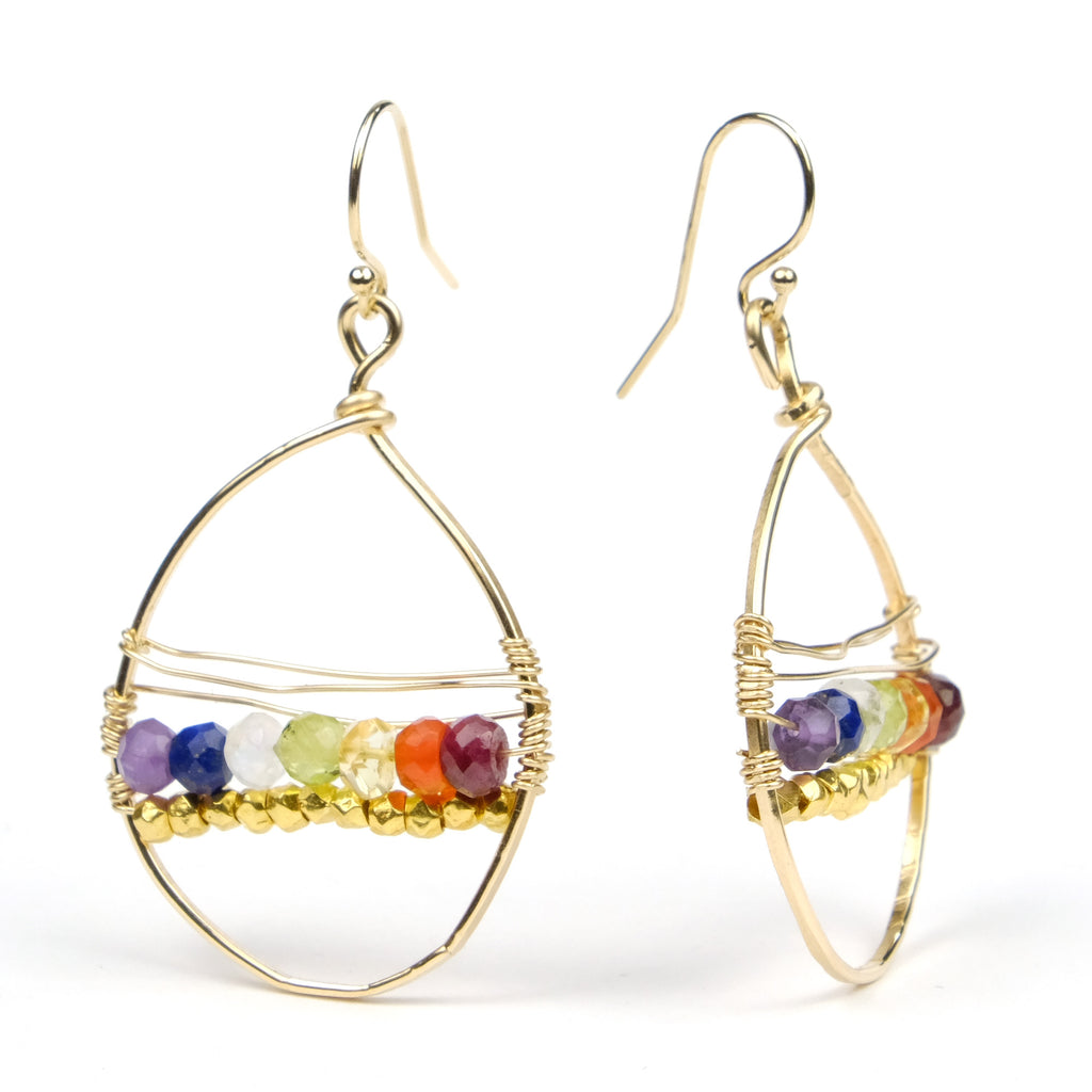 Chakra Earrings with Gold Filled French Ear Wires