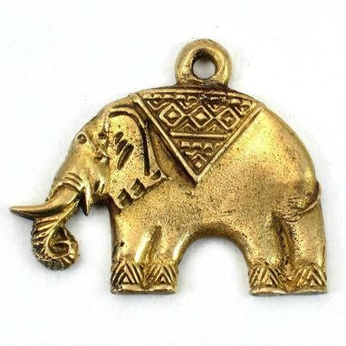 Brass Elephant Pendant Large