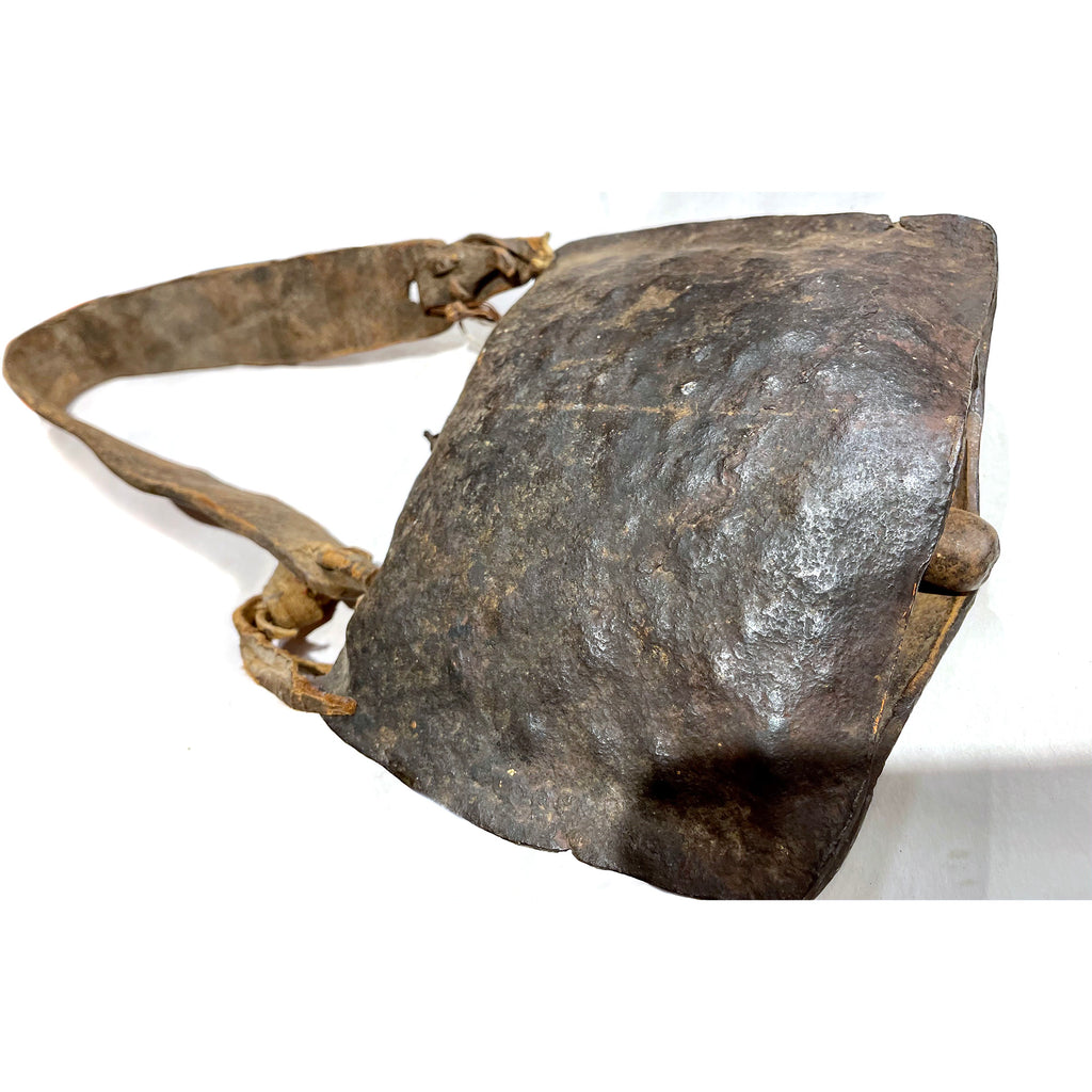 Maasai Hand Hammered Cow Bell with Leather Strap