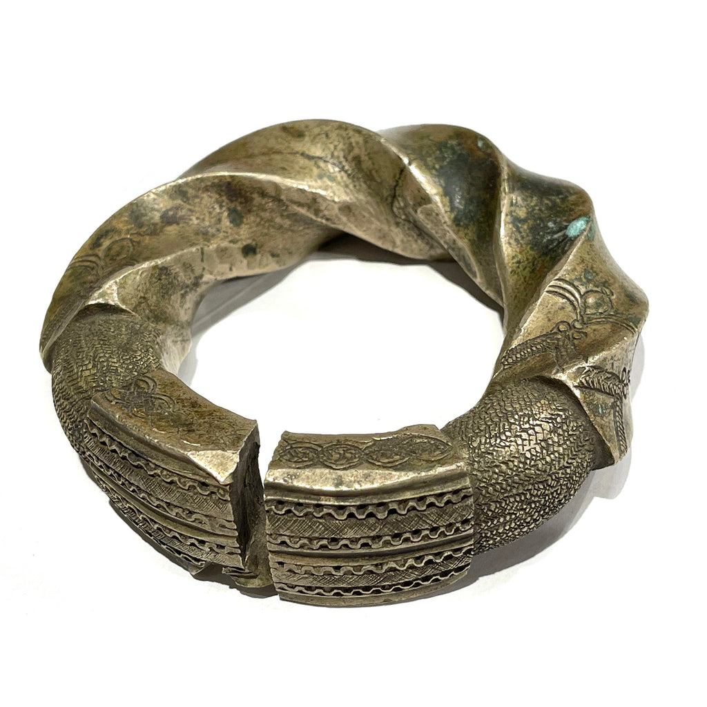 Extra Large Fine Djerma Dowry Currency Bangle from Nigeria