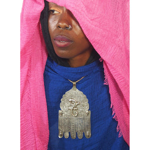 Moroccan Hamsa with Salamander and Hand Overlays