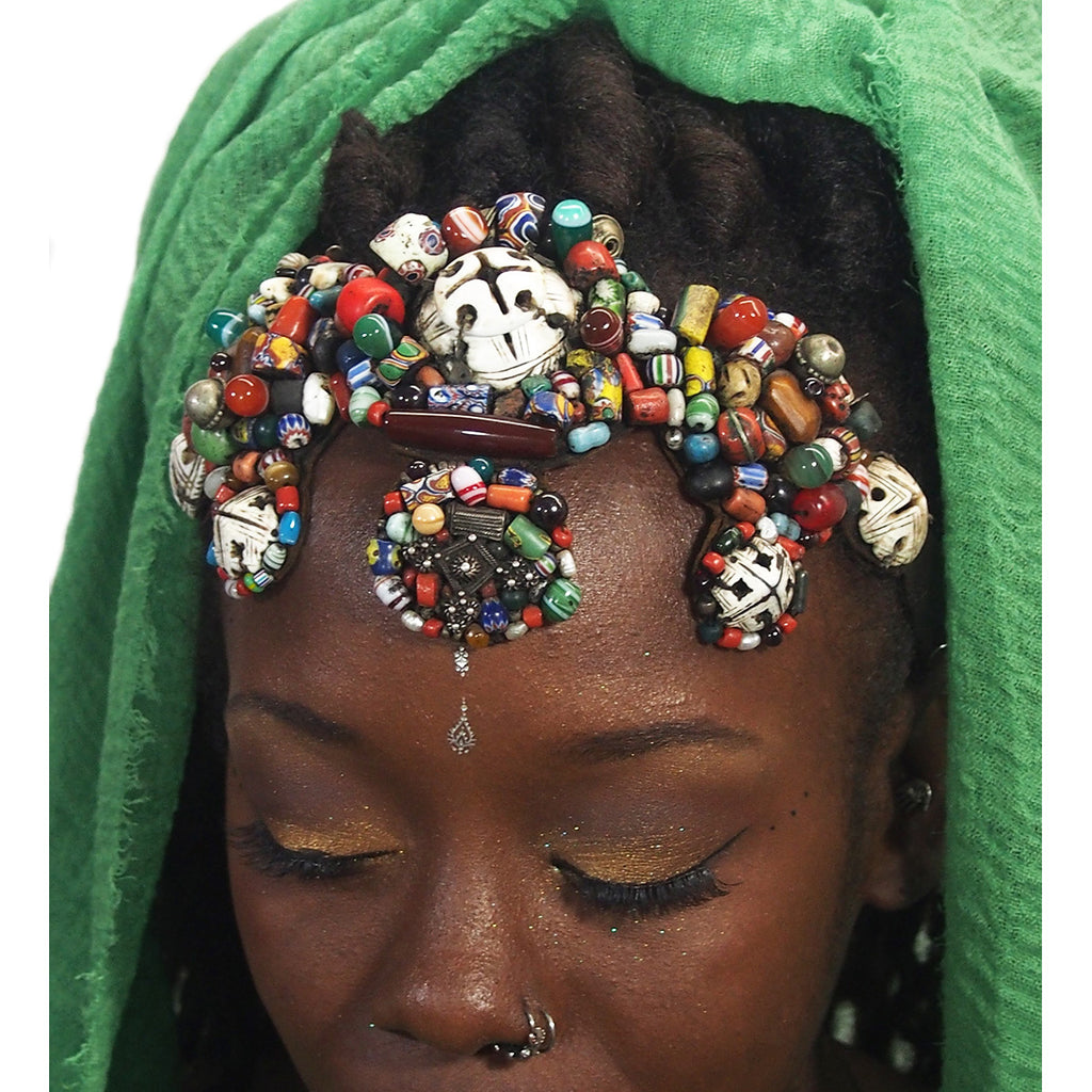 Berber Parure Headdress Crown for Guedra Dance Performance