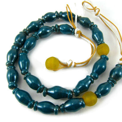 Java Hand Wound Glass Necklace/Strand
