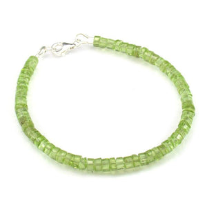 Peridot Faceted Bracelet with Sterling Silver Trigger Clasp