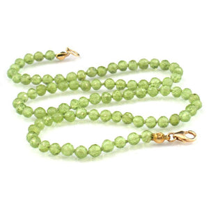 Peridot Necklace with Gold Filled Trigger Clasp