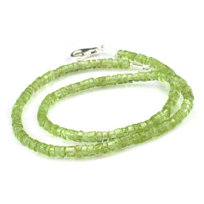 Peridot Necklace with Sterling Silver Trigger Clasp