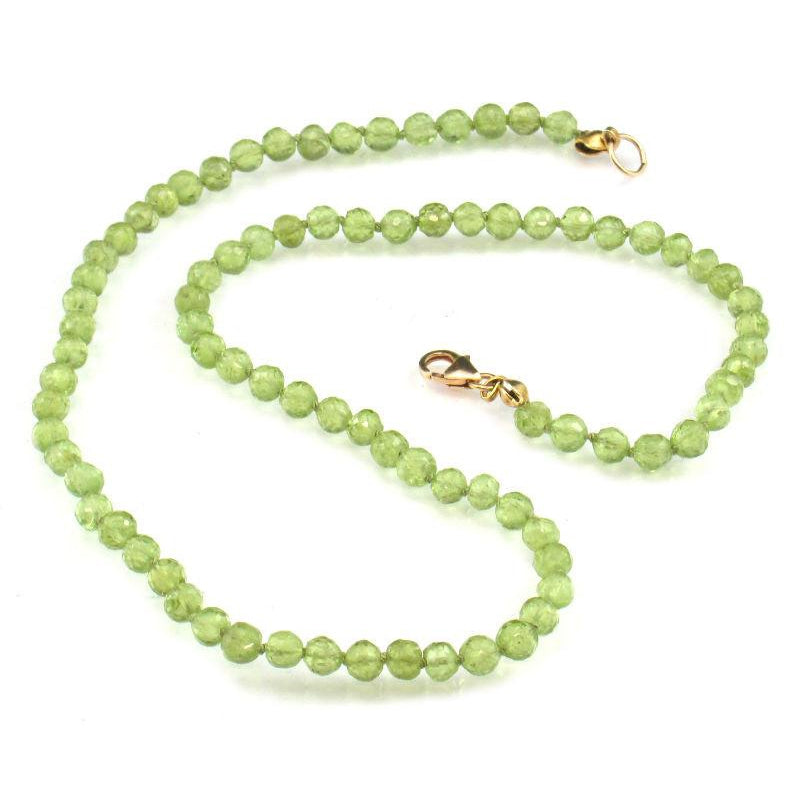 crystal necklace destiny with peridot swarovski zoom