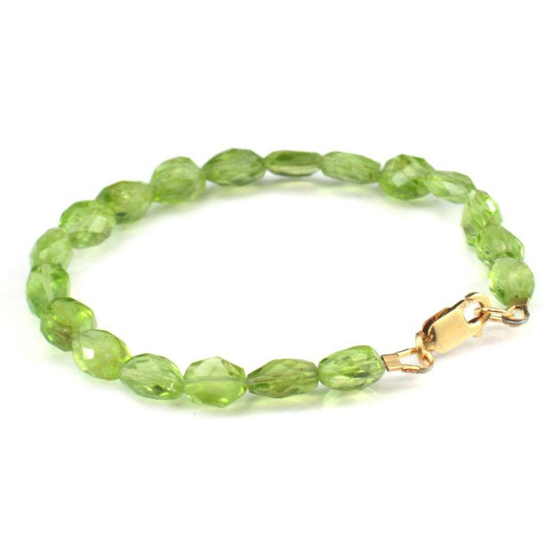 Peridot Bracelet with Gold Filled Lobster Clasp