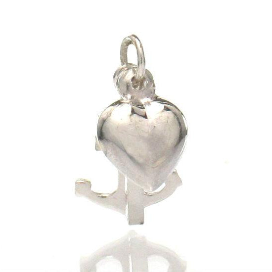 Sterling Silver Anchor/Heart/Cross Charm
