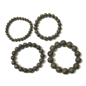 Black Opal Rounds Stretch Bracelet (7mm,10mm,12mm,14mm)