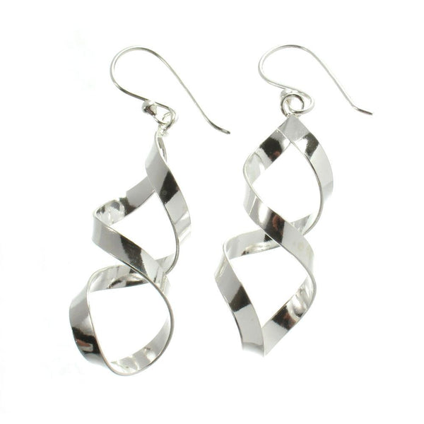 Sterling Silver Smooth Helix Earrings