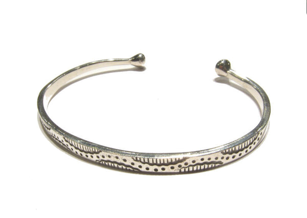 Writhing Snake Sterling Silver Cuff Bracelet
