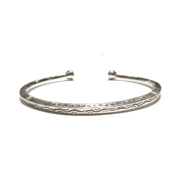 "Thick ""Tuareg Style"" Sterling Silver Flat Cuff"