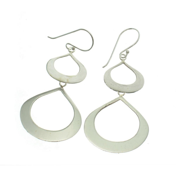 Sterling Silver Double Teardrop Earrings