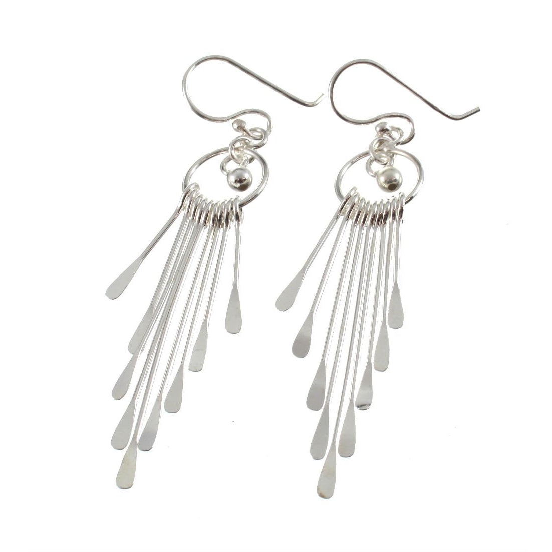 Sterling Silver Dangle Ray Earrings