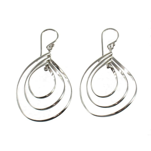 Sterling Silver Teardrop Explode Earrings