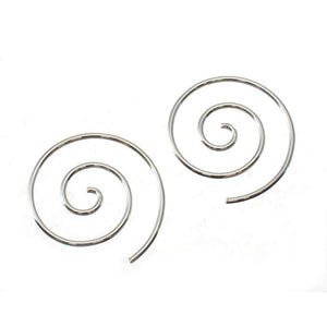 Sterling Silver 18mm Spiral Hoop Earrings