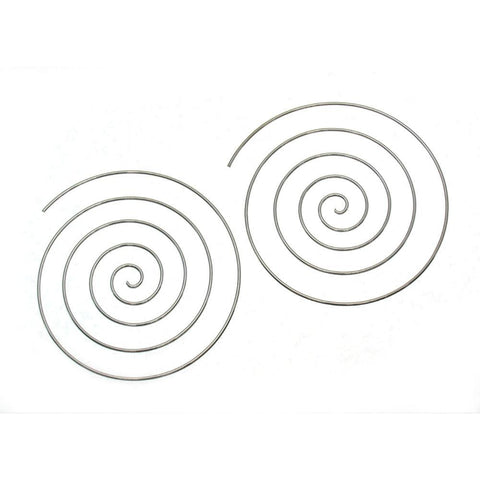 Sterling Silver 65mm Spiral Hoop Earring