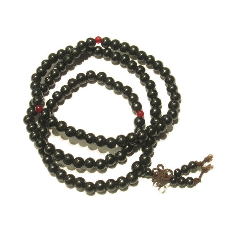 6mm OR 8mm Chinese Black Wooden Mala