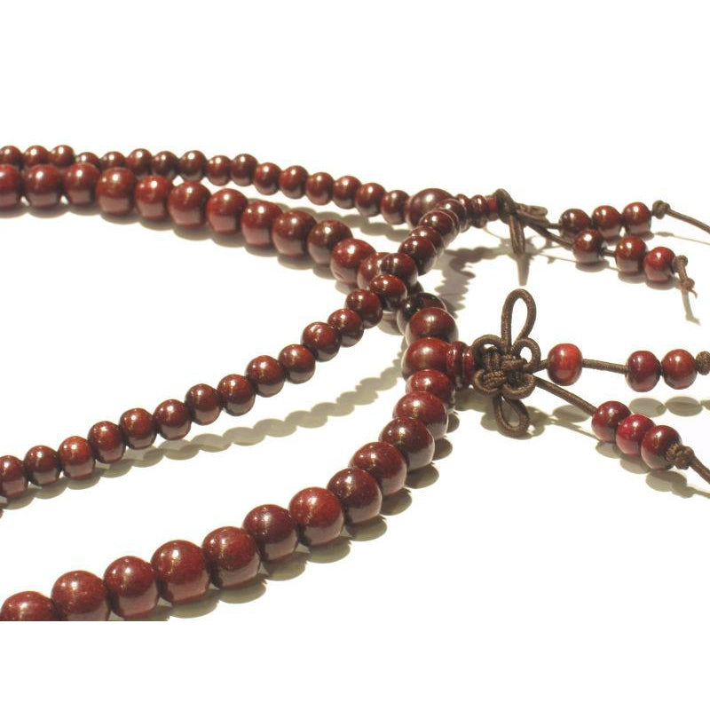 6mm OR 8mm Chinese Deep Red Wooden Mala