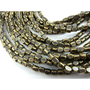 Brushed Brass Bead Strand