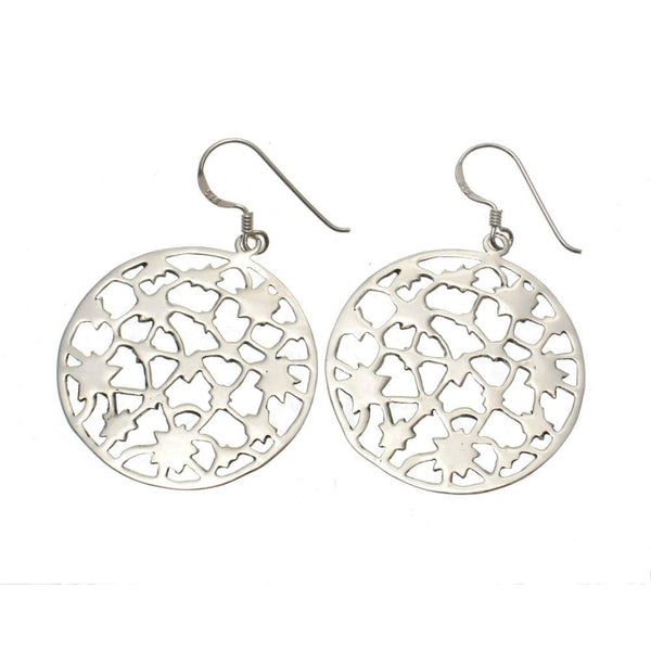 Sterling Silver Etched Starburst Earrings