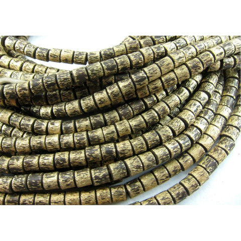 Brushed Brass Barrel Bead