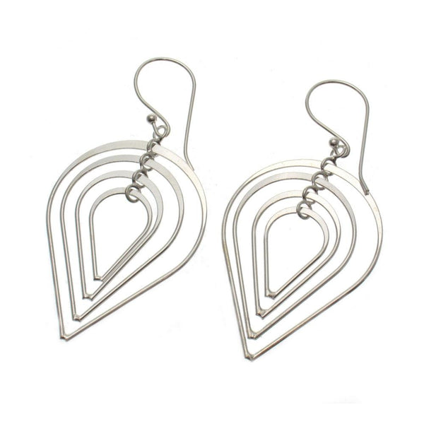 Teardrop Explode Sterling Silver Earrings