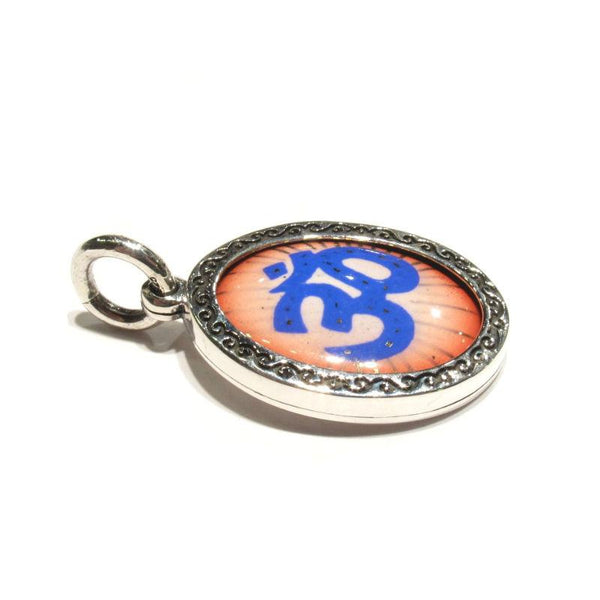 Om Symbol Sterling Silver Picture Amulet