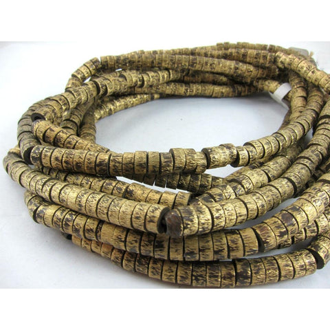 Brushed Brass Hishi Beads