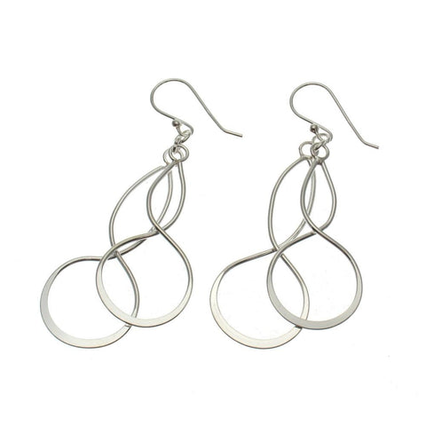 Sterling Silver Infinity Dangle Earrings
