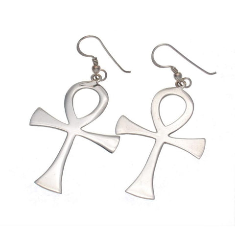 Ankh Sterling Silver Earrings