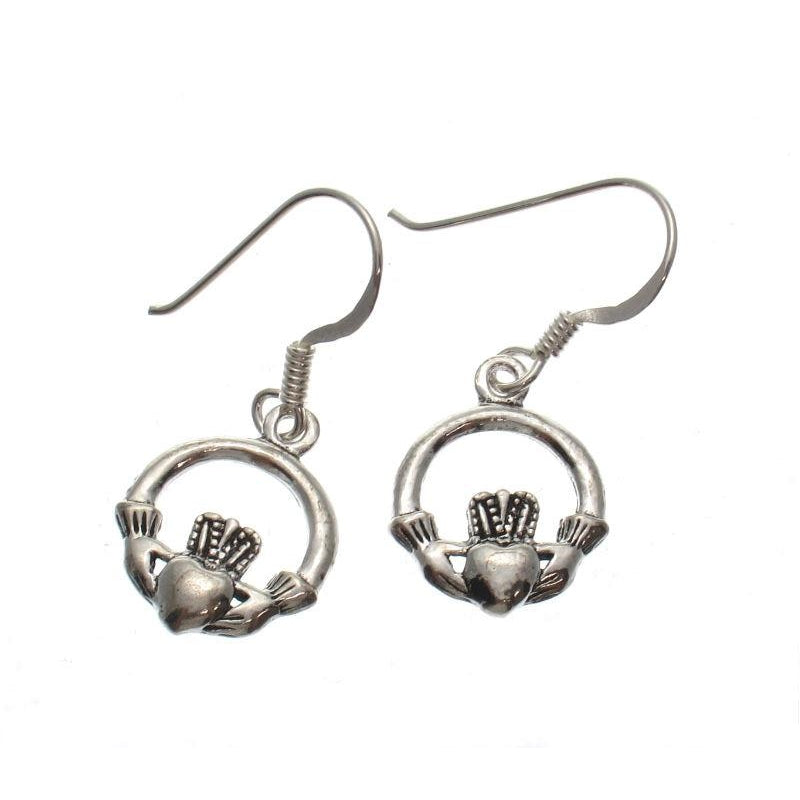 Small Claddagh Sterling Silver Earrings