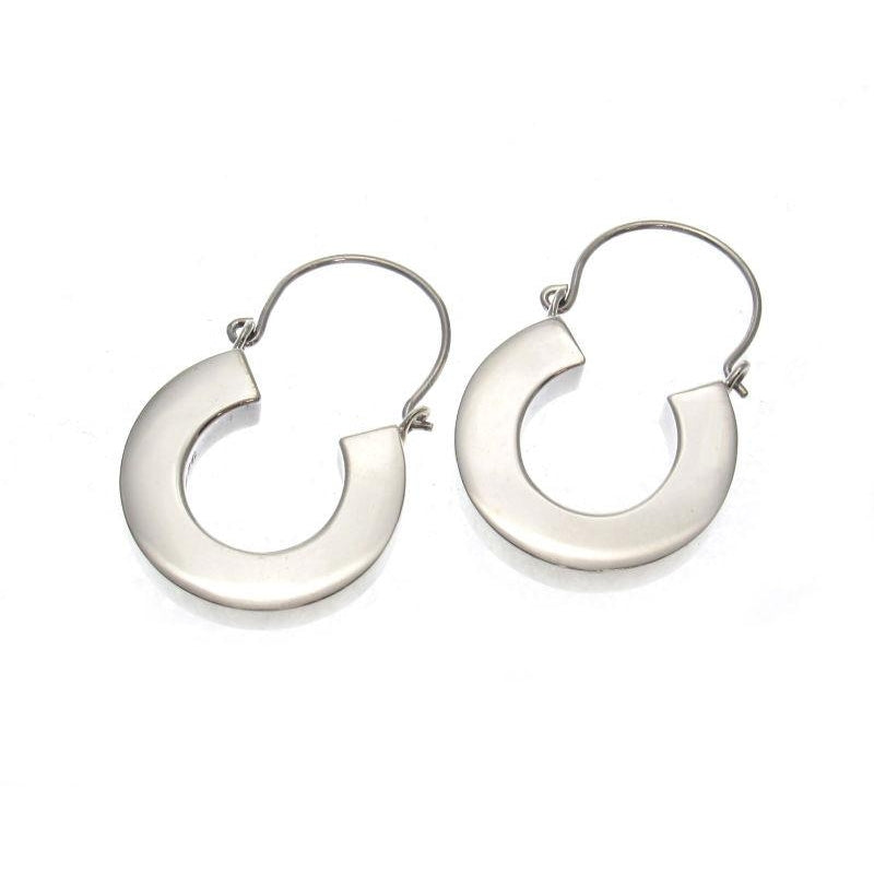 "Smooth ""U"" Sterling Silver Earrings"
