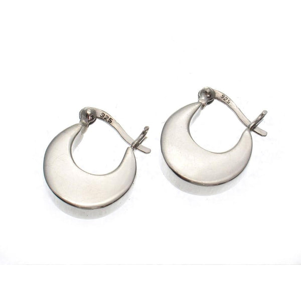 Mini Smooth Crescent 13mm Sterling Silver Earrings