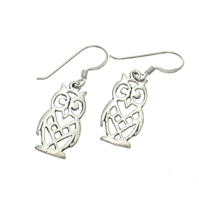 Mini Owl Sterling Silver Earrings