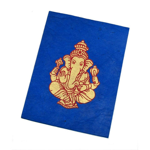 Handmade Greeting Card from Nepal (Ganesha)