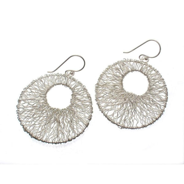Sterling Silver Mesh Earrings