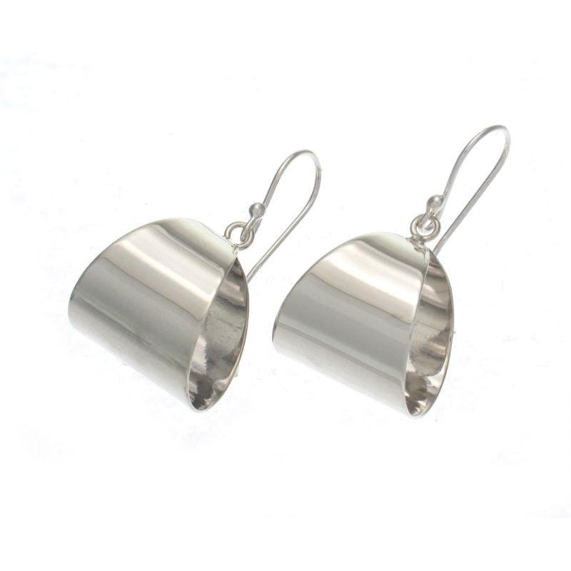 Smooth Fulani French Sterling Silver Earrings