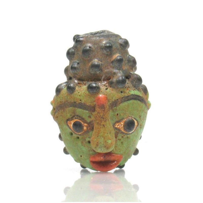 Buddha Head Recycled Glass Bead 2