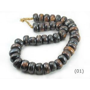 XL Turkana Decorated Cow Bone Beads