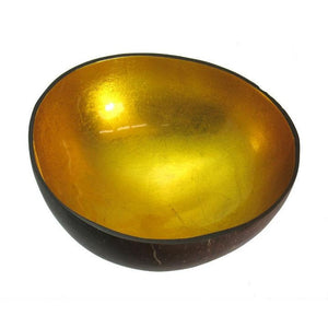 Metallic Lacquer Bowl from Vietnam, Gold