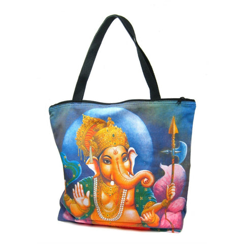 Screen Printed Tote Bag, Ganesha (2)