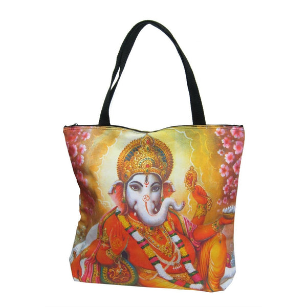 Screen Printed Tote Bag, Ganesha (1)