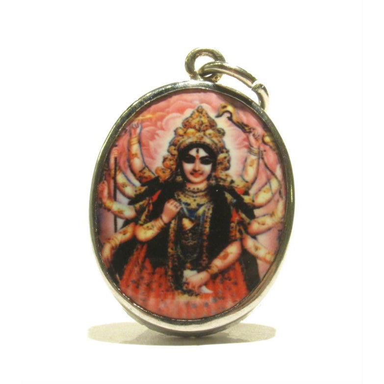 Tribal necklace Red skull jewelry Goddess necklace Goddess of Death Skull necklace Kali Aarti Kali Maa necklace Hindu necklace