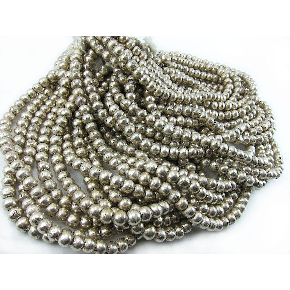 Ethiopian Silver over Copper Large Round Strand