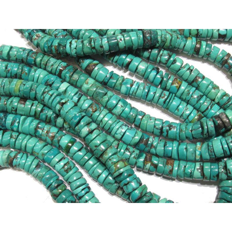 Turquoise Flat Disc 9mm Strand