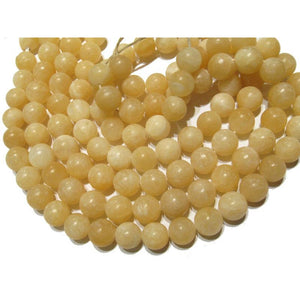 Honey Calcite Smooth Rounds 15mm Strand