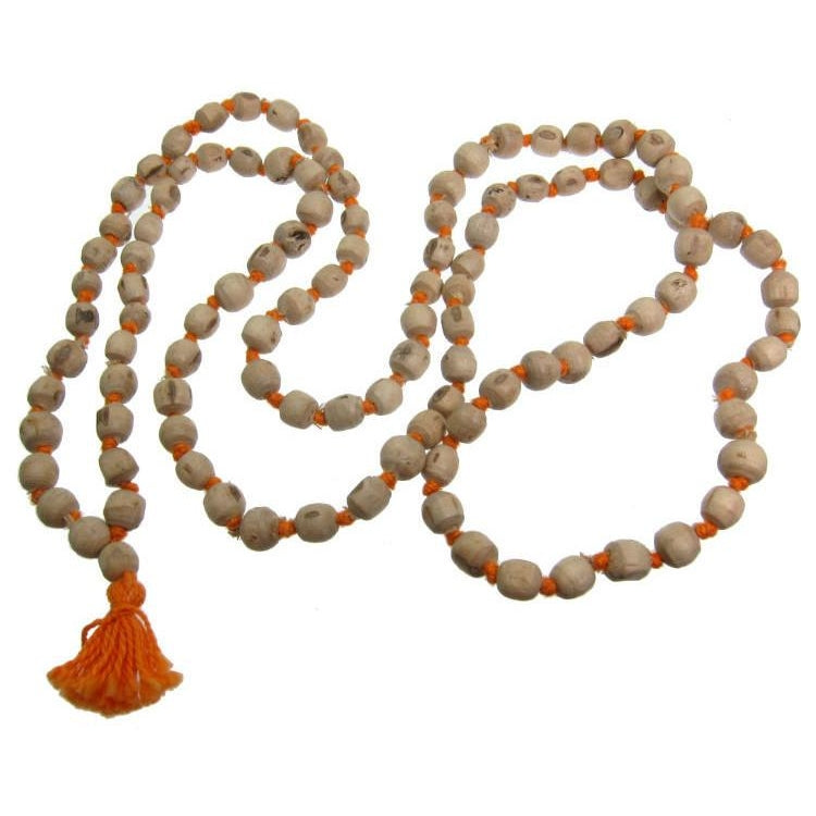 Tulsi Wood Knotted Mala 7mm